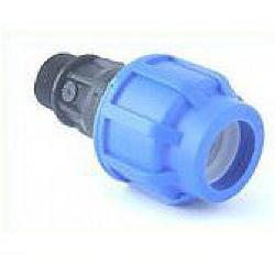 PE-Kupplung 25 mm auf 1 Zoll AG, verschraubt