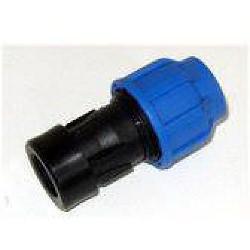 PE-Kupplung 25 mm auf 1 Zoll IG, verschraubt